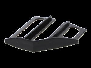 WAREMA Endkappe schwarz, 45°, links, für Unterschiene 80 mm