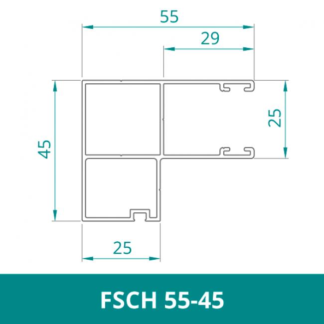 WAREMA Alu Distanzführungsschiene für Rollladen (FSCH 55-45)