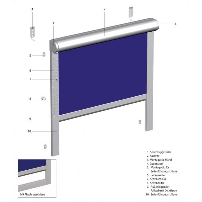 MHZ Basic Rollo mit Kassette (Seitenzug)
