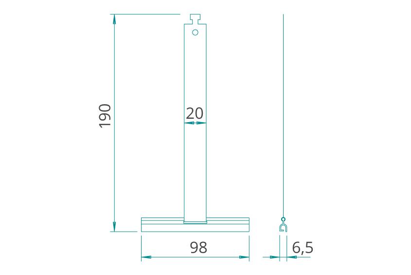 WAREMA Abdruckfeder (mini) für Rollladenpanzer A36 A44 K36 V36 A53 K52
