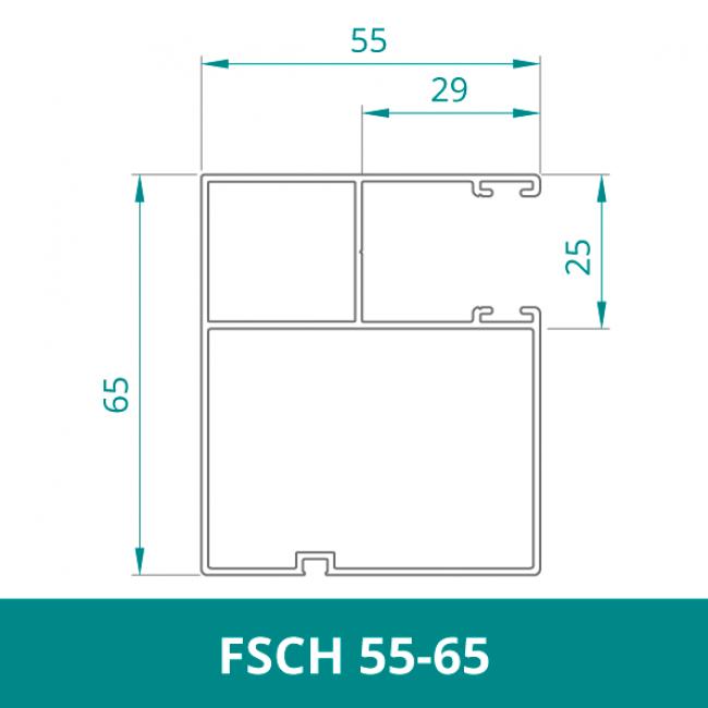 WAREMA Alu Distanzführungsschiene für Rollladen (FSCH 55-65)