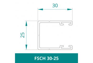 WAREMA Alu Führungsschiene für Rollladen (FSCH 30-25)