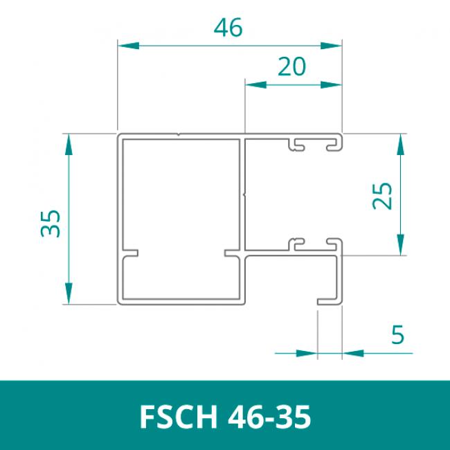 WAREMA Alu Distanzführungsschiene für Rollladen (FSCH 46-35)