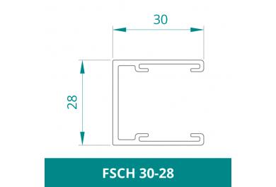 WAREMA Alu Führungsschiene für Rollladen (FSCH 30-28)
