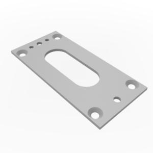 WAREMA • Unterlegplatte für Kurbelbedienung 40 x 85 x 2mm