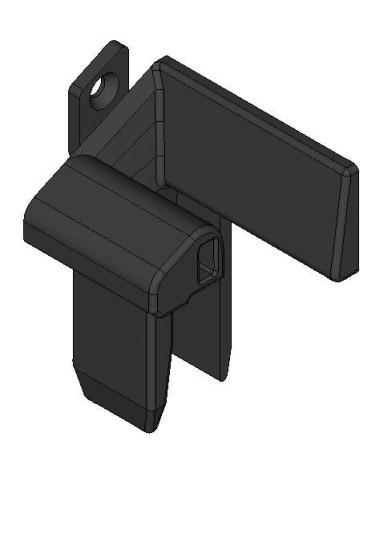 WAREMA Einlauftrichter schwarz, links für 55 mm Führungsschienen