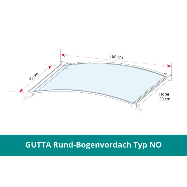 GUTTA Rundbogenvordach NO -bronze-