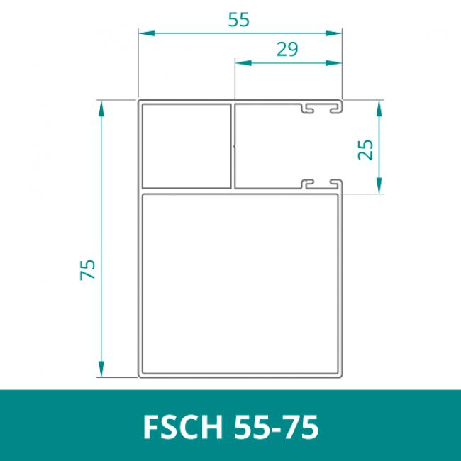 WAREMA Alu Distanzführungsschiene für Rollladen (FSCH 55-75)