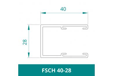 WAREMA Alu Führungsschiene für Rollladen (FSCH 40-28)