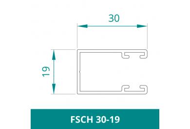 WAREMA Alu Führungsschiene für Rollladen (FSCH 30-19)