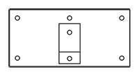 Typ D - Wandmontage mit Montageplatte groß