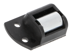 Gurtleitrolle schwarz, rechts, einseitiger Befestigung, mit Nadellager und Bürste