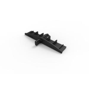 WAREMA Endkappe schwarz, mit Führungsnippel 56,5x16 mm